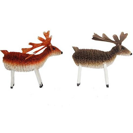 Hanging Bristle Reindeer 12cm