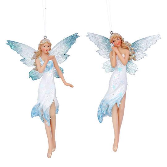 Resin Light Blue Fairy 15cm