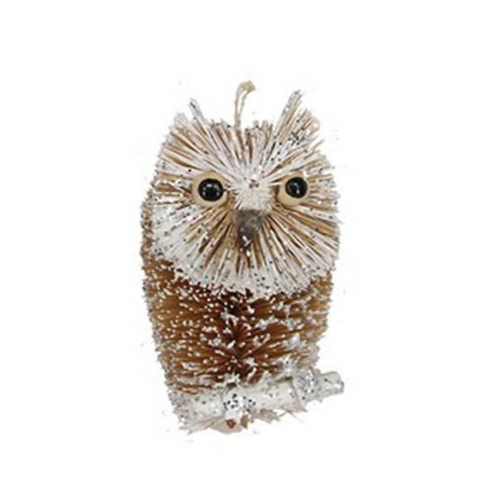 Bristle Silver Owl 9cm