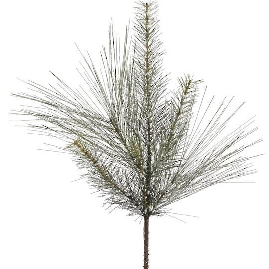 Snowy Silk Pine Branch 67cm