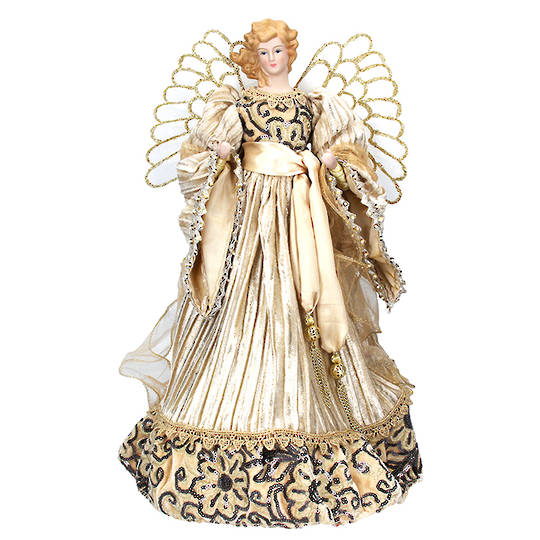 Cream Gold Angel Topper 45cm
