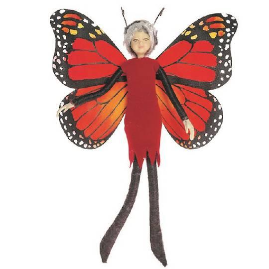 NZ Fairy, Red Monarch Butterfly 13cm