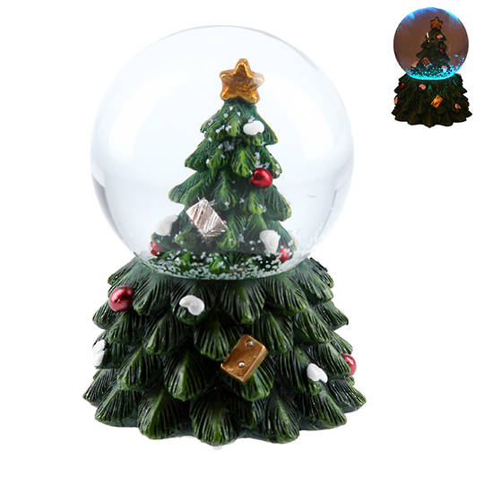 Mini Snow Globe, LED Xmas Tree