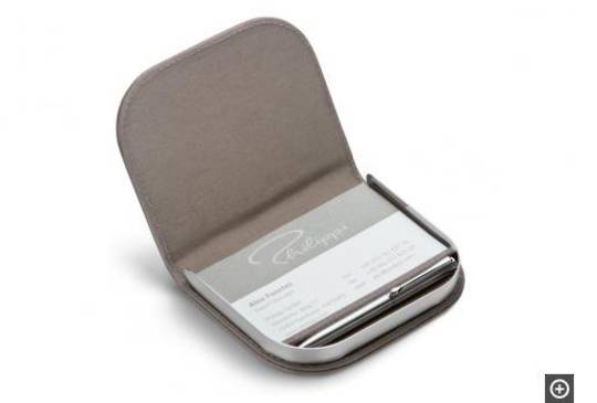 Corporate, Business Card or Memo Paper Holder with Pen