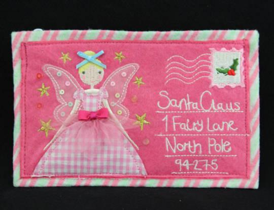 Pink Felt Fairy Purse 16x10cm