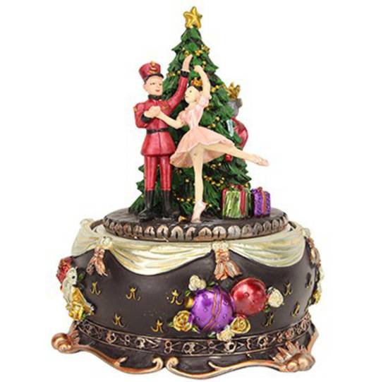 Muscial Nutcracker Christmas Story Tree 16cm