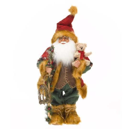 Santa Red Coat & Tan Fur Trim and Boots