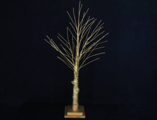 Matt Gold Spiky Tree 70cm