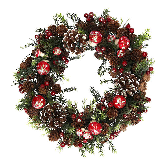 Pinecone and Toadstool Fir Wreath 33cm SOLD OUT