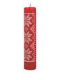 Advent Calendar Candle Red Knit