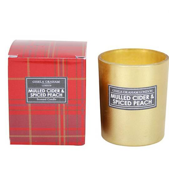 Balmoral Mini Scented Candle Gold Glass Pot