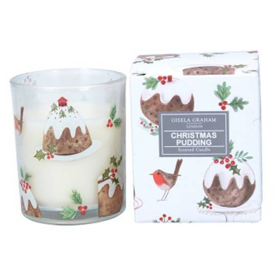 Plum Pudding, Scented Candle Jar 8cm