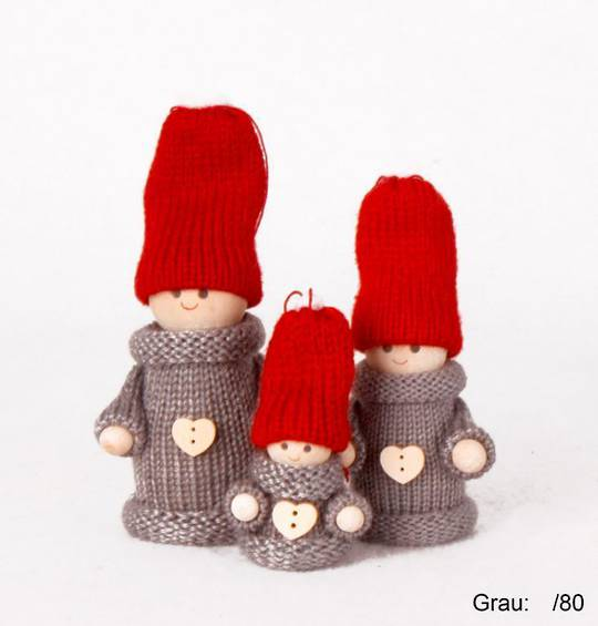 Mini Grey Santa Boy