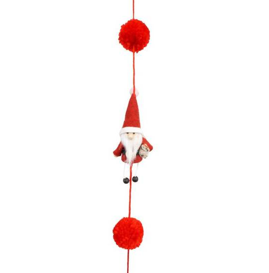 Santa with Little Legs Garland 1.6mtr