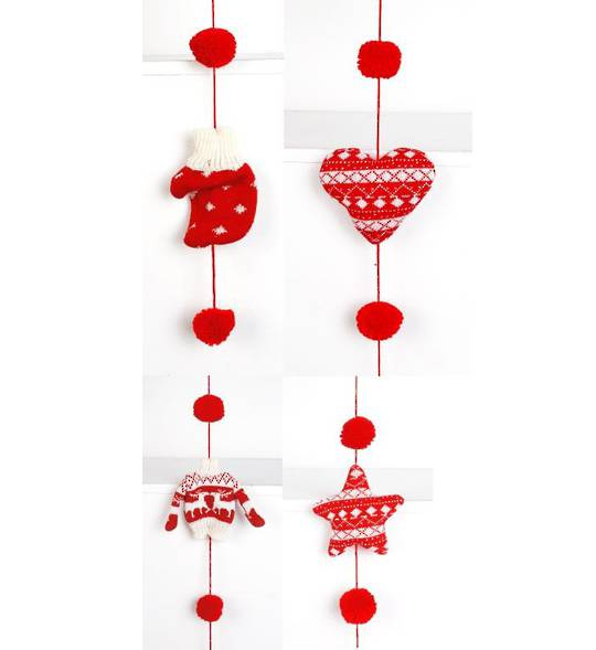 Scandi Knitted Shapes Garland 1.6mtr