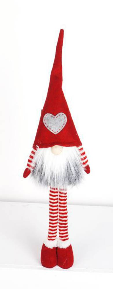 Plush Tall Long Legs Santa GreyStar Hat
