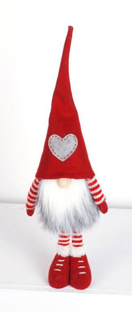 Plush Tall Short Legs Santa GreyStar Hat
