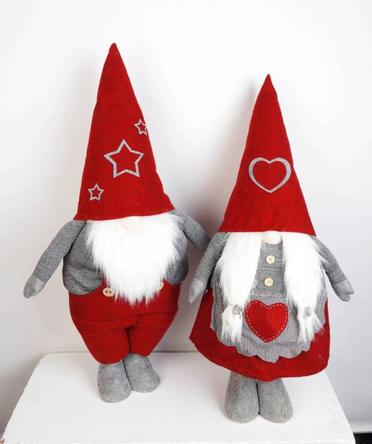 Plush Standing Nordic Mr or Mrs Santa Gnome 85cm SOLD OUT