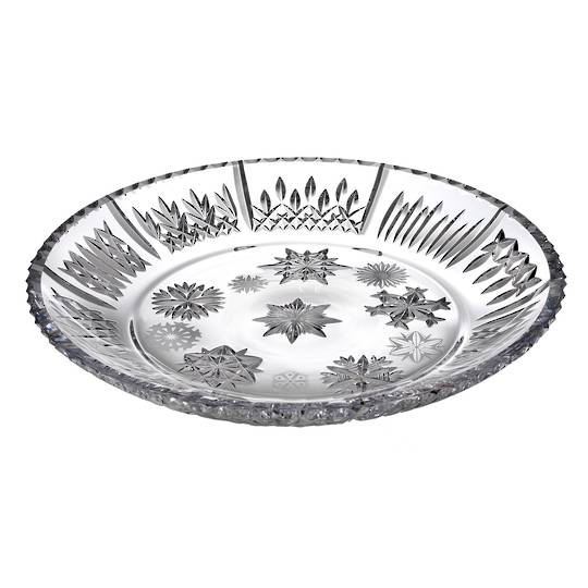 Waterford Snowflake Wishes Platter 34cm w/10 Different Snowflakes