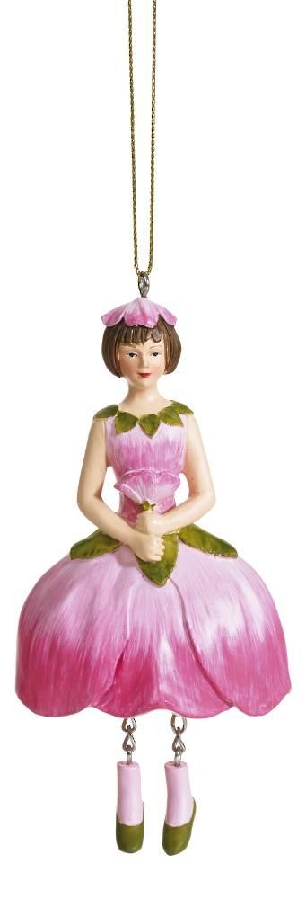 Hanging Flower Girl Apple Blossom Rose/Pink 12cm