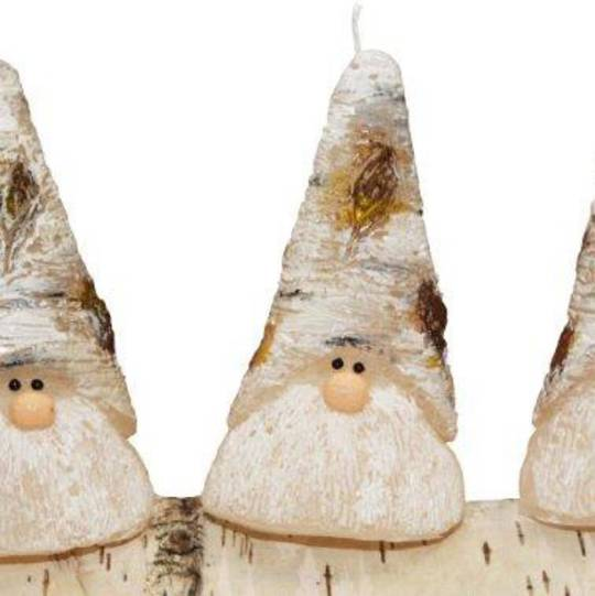 Xmas Birch Elf Candle, Cone