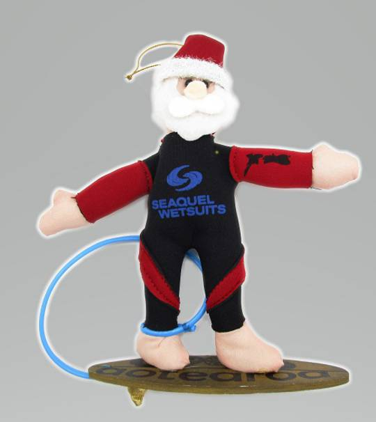 Iconic Hanging Fabric Surfer Santa SOLD OUT