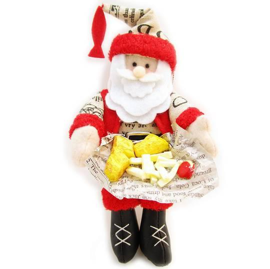 Iconic Fabric Fish & Chip Santa