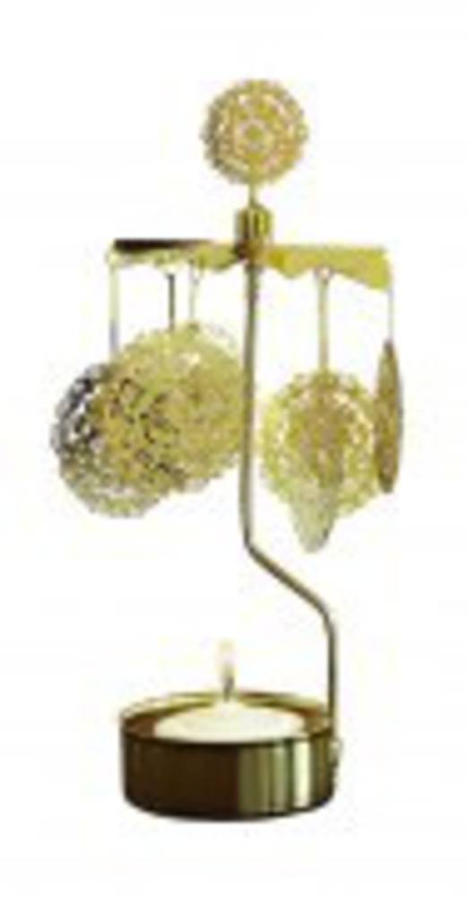 Rotary Candle Holder Dandelion, Gold