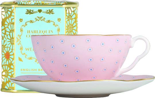 Wedgwood Polka Dot Cup & Saucer, Pink 250ml
