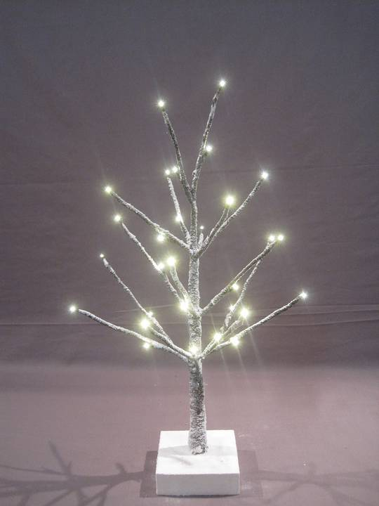 Snow Covered Twig Tree 60cm with 32 LED Lights