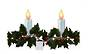LED Flame Holly Garland Window Sticker Small