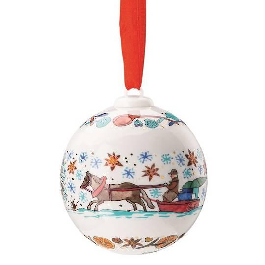Hutschenruether Annual Porcelain Christmas Ball 2020