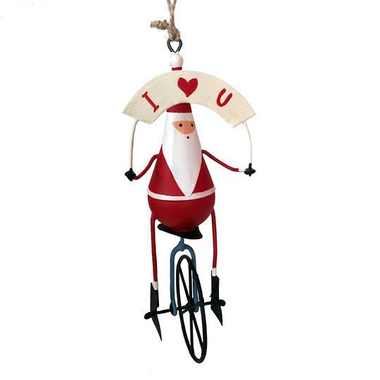 Tin Santa on Unicycle
