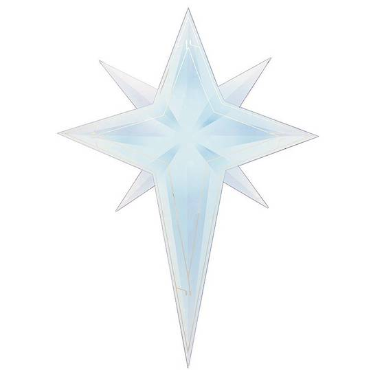 LED Flame Christmas Star Window Sticker