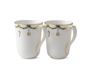 StarFluted Christmas Mugs, Pair