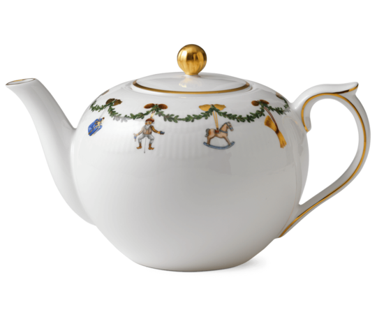Starfluted Christmas TeaPot