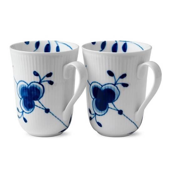 Royal Copenhagen Blue Mega Mugs, Pair