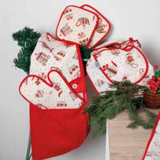 Christmas Tea Story Design Pot Holder Set