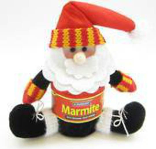 Iconic Hanging Fabric Marmite Santa