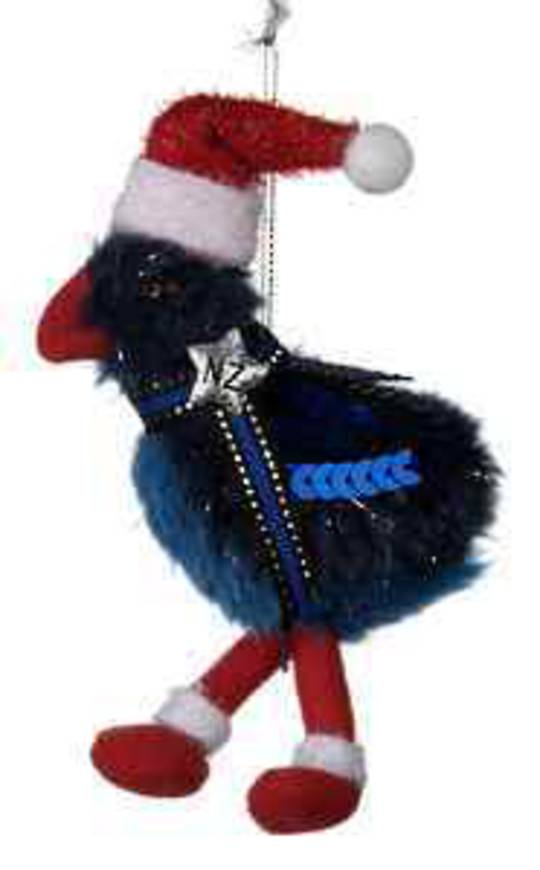 Iconic Hanging Fabric Pukeko with Santa Hat SOLD OUT