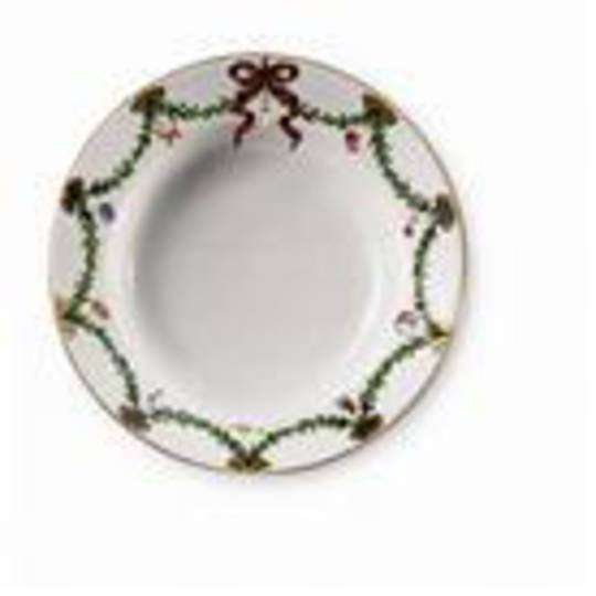 Starfluted Christmas Entree Plate