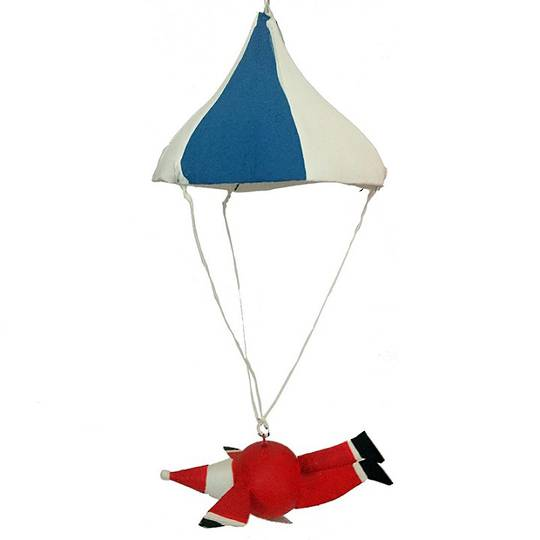 Santa Flying Under Parachute