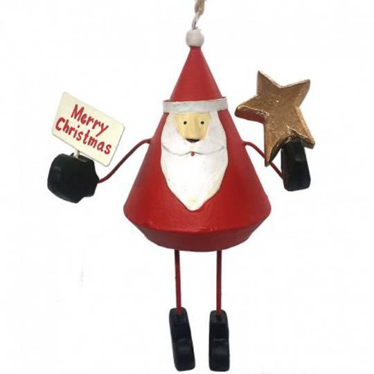 Tin Santa Merry Christmas