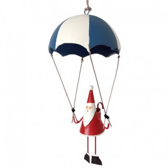 Tin Santa Blue Parachute