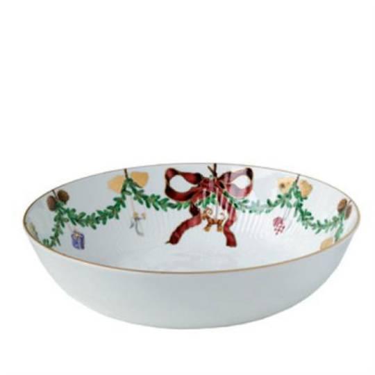 StarFluted Christmas Low Salad Bowl