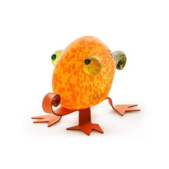Artglass Fizzy Lizzy Object Orange