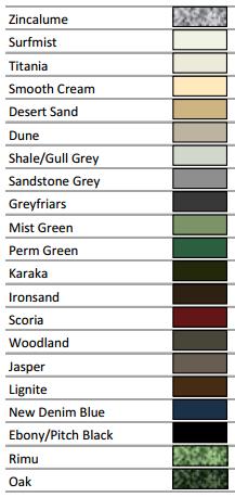 garage doors auckland - colors