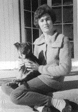 carol with first german shepherd
