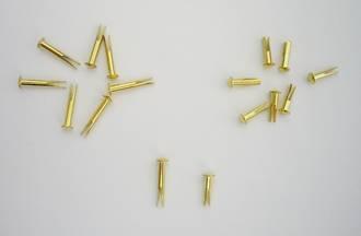 "No.12 Biff Rivet 13mm (8/16"") Brassed - 100pcs. /pack"