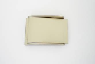 #14429 Buckle  Smoke Matt Nickel,  35mm